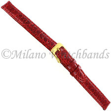 10mm Di Modell Royal Turkey Red Handcrafted Stitched w/Breathing Pad Watch Band