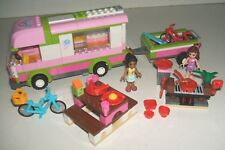 Lego 3184 Friends Adventure Camper Van Trailer BBQ Bicycles 2 Minifigs Complete