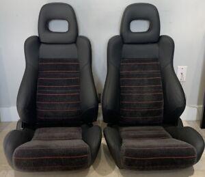 Honda CRX CR-X JDM OEM SiR EF8 Leather Front Seats
