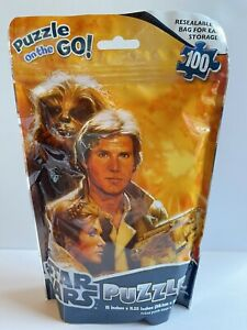 STAR WARS Puzzle on the Go! 100 PIECES Chewbacca Luke Solo Droids 2012 NIP