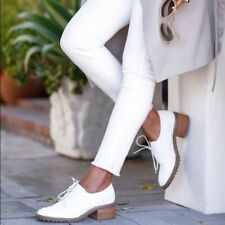 Michael Kors Edison Womens Shoes 11 Oxford Heels White Suede Wingtip Brogue Chic