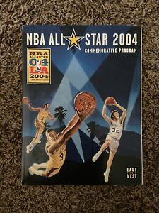 2004 NBA ALL STAR LEBRON ROOKIE KOBE SHAQ COMMEMORATIVE BASKETBALL PROGRAM EX-NM