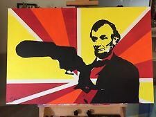 """Mr. Lincoln I Presume"" By Jesse James Street Graffiti Contemporary Pop Art"
