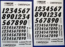 Set Of Two Nascar Vinyl Numbers For 1/32Nd Scale Slot Cars-New-1990'S