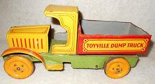1920s Nonpareil Strauss Windup Tin Litho 9 inch Toyville Dump Truck C Cab NICE