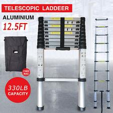 12.5FT Aluminum Multi Purpose Telescopic Ladder Extension Foldable Steps 330Lbs