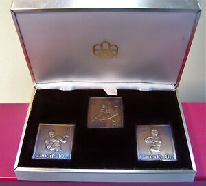 Canada 1976 Montreal Summer Olympic Action 3 Bronze Stamps + Box ...#2