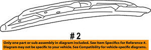 FORD OEM Wiper-Rear Window Blade YC3Z17528BA