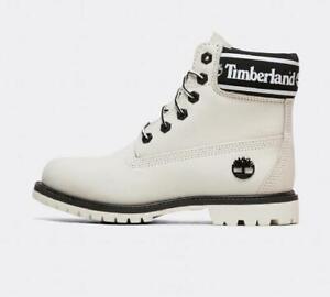 Womens Timberland 6 Premium Boot White/Black (PF1) RRP £179.99