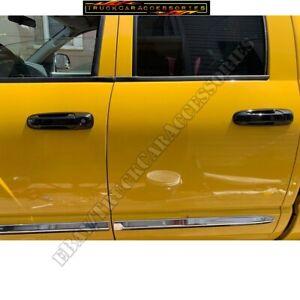 For DODGE Ram 1500 2500 3500 2002-2007 2008 BLACK 4 Door Handle Covers with PS K