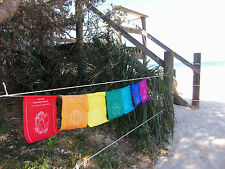 Tibetan Prayer Flags Chakra Healing Lotus Rainbow Affirmations Large