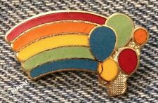 Rainbow Brooch Pin ~ Balloons ~ 90's vintage cloisonne