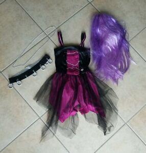 Girls Monster High Spectra Vondergeist Ghost Costume/Wig/Tote Small 4 - 6