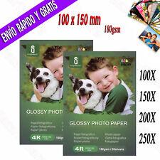 Papel Fotografico 10x15 Brillante Impresion Fotografía Impresora Inyección Tinta