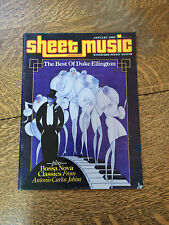 Sheet Music Magazine 1985 Back Issues Lot of 4 Piano Guitar Tablature Vintage