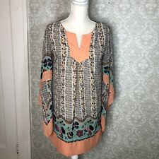 UMGEE Womens Retro 70s Tunic Dress Floral Small