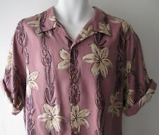 "Vintage Para Hombre Pusser's 100% Seda Camisa Hawaiana // Dance Hipster/L 51"" Tropical"