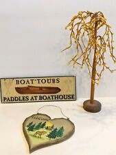 Decor Lot for Cottage Lake House Country Lodge Rustic Cabin Signs Prim Tree