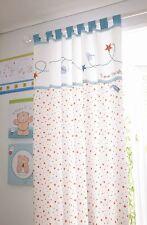 Forever Friends  Baby Nursery Blue Star Tab Top 132x163cms Curtain Pair