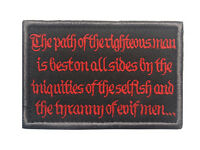 Justice road MORALE BADGE ARMY TACTICAL EMBRODIERY HOOK & LOOP PATCH