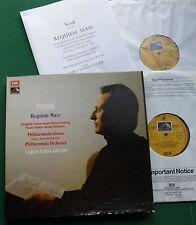 Verdi Requiem Mass Philharmonia Orch & Chorus Giulini Box Set SLS 909 LP x 2