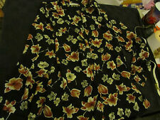 Semi-Opaque Black Floral Long Shirt in Size 16 - Chest 46""