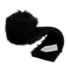 Black Faux Fur Trim - 80mm x 2m - Groves