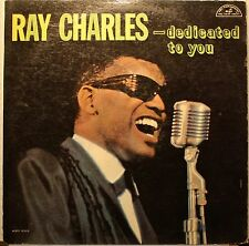 """Ray Charles """"Dedicated To You"""" LP Record 1961 ABC 355 Mono G+ Condition"""
