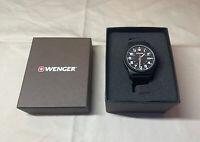 Wenger Men's 72815 Analog Display Swiss Quartz Black Watch w/ FREE SHIPPING