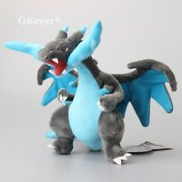 "New 10"" Charizard Mega X Drogon Kids Toy Soft Plush Stuffed Doll Toy Xmas Gift"