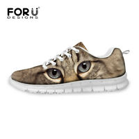 Black Cat Women Sport Breathable Sneakers Casual Running Athlete Walking Shoes
