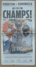 2017  HOUSTON ASTROS HOUSTON CHRONICLE NEWSPAPERS CHAMPS STADIUM PARADE EDITIONS