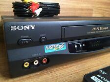 New listing Sony Vcr 4-Head Hi Fi Stereo Vhs Recorder Player w/ Remote Slv-N55 🇺🇸