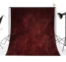 Dark Red Photography Background Vinyl Cloth Photo Backdrop Studio Props 10x10ft