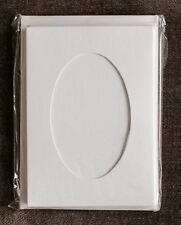 Oval Aperture A6 Cards - White (Pack Of 5)