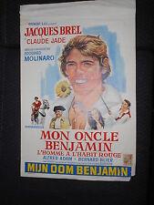 JACQUES BREL MON ONCLE BENJAMIN  1969 RARE AFFICHE BELGIAN POSTER4