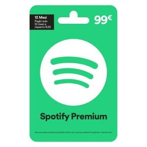 Voucher Spotify Premium 12 Mesi