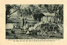 1920 Drovers Pitching Camp Carriage Married Soldiers Clearing Bush