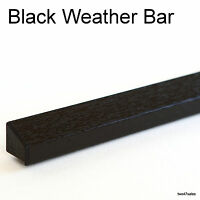 BLACK Weather Rain Deflector Drip Bar upvc Door Window wood guard weatherbar pvc
