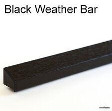 BLACK Weather Rain Deflector Drip Bar upvc Door Window wood guard weatherbar pvc