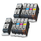 10 PACK PGI-220 CLI-221 Ink Tank for Canon Printer Pixma iP3600 iP4600 NEW