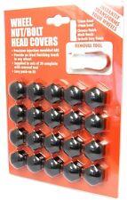 Vauxhall Corsa Wheel Nuts Covers 1993-2013 (17mm Black) (PE1253)