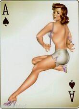 Sexy Redhead Pinup Ace of Spades Bombshell Art Nose Art Vinyl Sticker DEcal