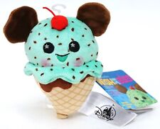 Disney Parks Wishables Food Series Mickey Ice Cream Cone Limited Release Plush