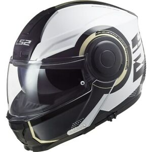 LS2 Motorcycle Tours Flip up Helmet FF902 Scope Arch White/Titanium XL