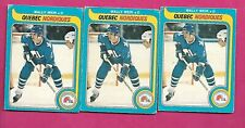 3 X 1979-80 OPC # 388 NORDIQUES WALLY WEIR  ROOKIE CARD (INV# C3251)