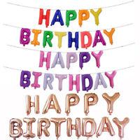 Eg _ Auto Gonfiante 40.6cm Lamina Lettere Palloncini Happy Birthday Decorazione