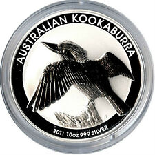 2011 P SILVER AUSTRALIAN 10 OZ KOOKABURRA $10.00 COIN