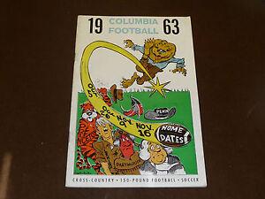 1963 COLUMBIA COLLEGE FOOTBALL MEDIA GUIDE   EX-MINT  BOX 7