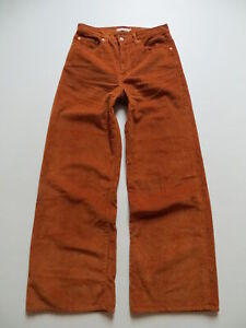 Levi's RIBCAGE WIDE LEG Cord Jeans Hose W 30 /L 32 Marlene Breitcord Schlaghose!